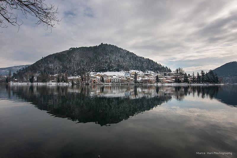 Piediluco sotto la neve – wikimedia